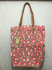BNWT Ladies Rivers Brand Leopard Print Classy Zip up Tote Carry Shopping Bag