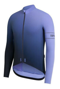 Rapha PRO TEAM Thermal Colourburn Jersey Light Blue/Navy BNWT Size L