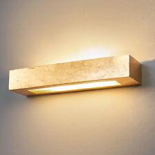 Wandlampe Emina Gips Gold Eckig Warmes Licht Gemütlich Wandlampe Lampenwelt
