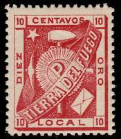 ✔️ CHILE FIRELAND TIERRA DEL FUEGO 1891 - LOCAL POPPER - MI.1 ** MNH  €120 [16]