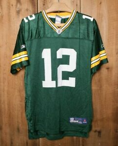 REEBOK Green Bay Packers Aaron Rodgers #12 Football Jersey Youth XL 18-20