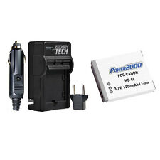 PT NB-6L NB6L Battery + Charger for Canon Powershot SX700 SD1300 D10 SX530 SX510