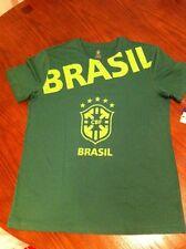 Brasil Soccer Futbol CBF Men's Large Slim Fit Short Sleeve T-Shirt Green NWT