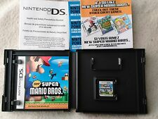 New Super Mario Bros. for Nintendo DS! Complete original case artwork manual!