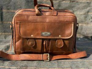 Bag Vintage Leather Briefcase Messenger Bag (15.5 Inch) Handmade Satchel Laptop