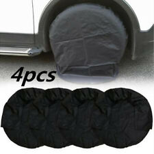 32 inch Universal Set of 4 Wheel Tire Covers for RV Auto Truck Car Auto Black