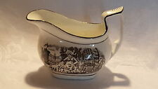 Black & white transfer printed vintage pre Victorian antique jug