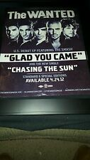 The Wanted Glad You Came Rare Original Promo Poster Ad Framed!