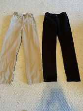 The Children's Place Boys Khakis Tan And Black Size 10