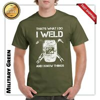 The's what i do i weld and i know things Funny Ornamental Welding gift t shirt