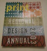 001 2003 Regional Design Annual PRINT MAGAZINE America's Graphic Design Magazine