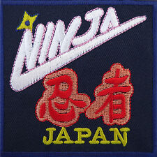 Ninja Japan Patch Iron / Sew On Shirt Jeans Costume Suit Biker Embroidered Badge