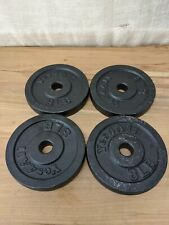 """Four (4) 8lb Standard 1"""" Yes4All Weight Plates 32 Pounds Total"""