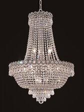 World Capital Empire 20x26 12 Light Dining Crystal Chandelier Light Chrome