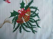 Weihnachtsdecke Tischdecke Decke Polyester Glocken Schleifen 160x140 weiß CB1375