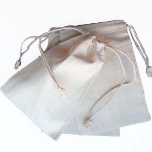 kleiner Baumwoll-Beutel mit Zugband für Einkäufe, als Kräuter- o. Lavendelsack