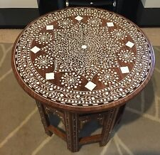 Handmade Rosewood Indian Inlaid Table / Occasional Table/Side Table