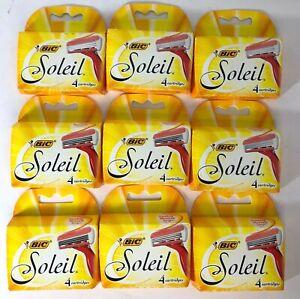36 BIC Soleil Blades Cartridges Shaver Refills for Schick Quattro Razor