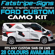 FORD TRANSIT CUSTOM CAMO GRAPHICS STICKERS DECALS CAMOUFLAGE SWB LWB DAY VAN