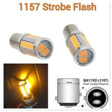 Amber Strobe Brake Light 1157 2057 3496 BAY15D P21/5W 33 LED Bulb B1 #1