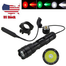 5000Lm XM-T6 LED 502B Tactical Flashlight Torch Pressure Switch Mount Light Gun