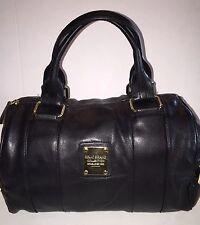 RELIC Brand Collection BLACK Satchel w/ BRASS Trim EUC
