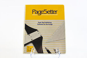 Commodore Amiga: PageSetter Desktop Publishing Software - Case & Manual NO DISK