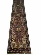20 Runner Rugs Brick Red Traditional Design Genuine Hand-knotted in India