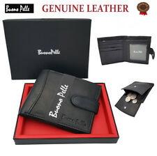 DESIGNER MENS LEATHER WALLET BUONO PELLE QUALITY CREDIT CARD COIN PURSE HOLDER