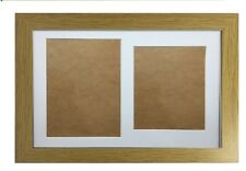 Graduation Double Photo Frame for 1 A4 Certificate and 8X10 inch Photograph Oak