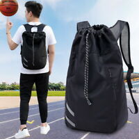 ZZ Unisex Waterproof Drawstring Gym Backpack Sport Sack Travel Daypack New