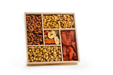 Wooden gift tray Fancy mix of nuts and dried fruits - great xmas present