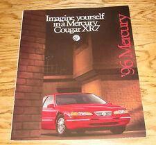 Original 1996 Mercury Cougar XR7 Deluxe Sales Brochure 96