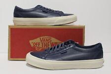 Vans Court DX Leather Crown Blue Men's Size 7.5