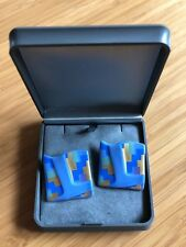 VINTAGE STUDIO-LINIE ROSENTHAL PORCELAIN EARRINGS JOHAN VAN LOON