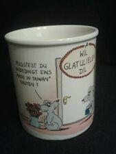 """Kultig & Witzig Uli Stein Tasse Kaffeebecher """"WIL GLATULIELEN DIL"""""""