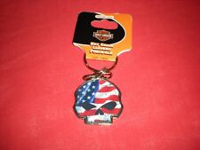 GENUINE HARLEY DAVIDSON WILLIE G AMERICAN FLAG KEY CHAIN NEW