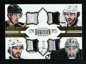 2013-14 Panini Dominion Quad Prime 2/10 Drew Doughty Dustin Brown Jonathan Quick