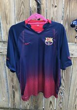 Barcelona FCB Embroidered Soccer Shirt NIKE Fit Dry Size XL EUC Ronaldinho