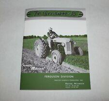 Ferguson To 35 Operators Owners Manual Gray Amp Green 1954 1955 Massey Ferguson