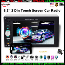 6.2'' 2 Din Car Radio Mirror Link FM Stereo +Camera BT Touch Screen  MP5 Player