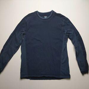 Kuhl Organic Cotton 2-tone Color Block Long Sleeve Shirt Men's Size Medium A2