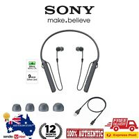 Sony WI-C400 Wireless Bluetooth Neckband Headphones Mic Black WIC400 # NEW