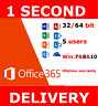 Microsoft Office 365  Pro Plus Home & Business For 5 Users INSTANT DELIVERY