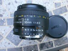 Nikon 50mm f1.8 AF lens excellent condition