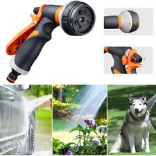 8 Adjustable Patterns Garden Water Guns Sprayer Hose Nozzle Plants Watering