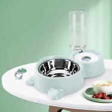 Dog Food Water Feeder Bowls Bundle Fountain Drinking Dish Pet Feeding Supplies