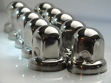 40 x 32mm Polished Stainless Steel Wheel Nut Covers ALL Trucks with 32mm nuts
