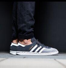 Adidas Hamburg Men 10.5 +RARE+ 2/Tone Grey Suede/White Stripe NEW spezial samba