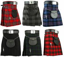Scottish Men's Kilt Traditional Highland Dress Skirt Tartan Kilts ,5 yard